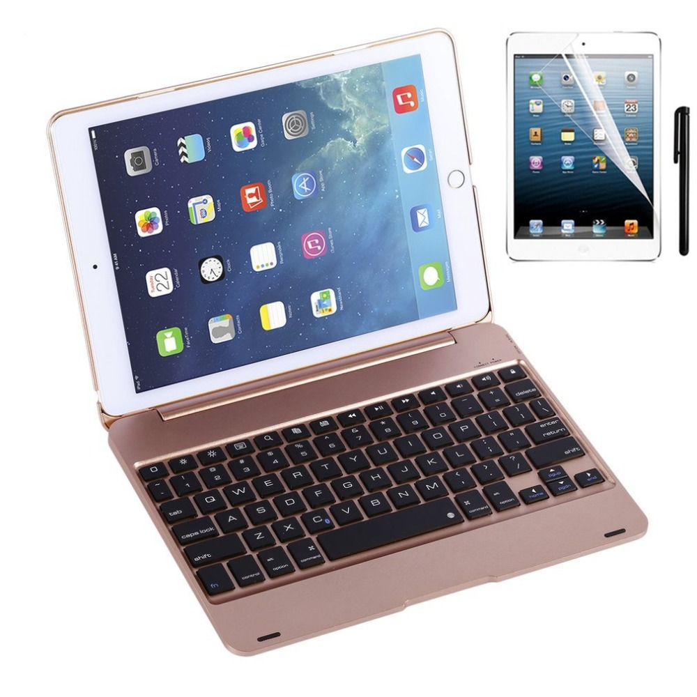 все цены на  Kemile Slim Smart Folio Case Wireless Bluetooth Keyboard Case Cover with Auto Sleep / Wake for iPad Pro 9.7 and iPad Air 2  онлайн