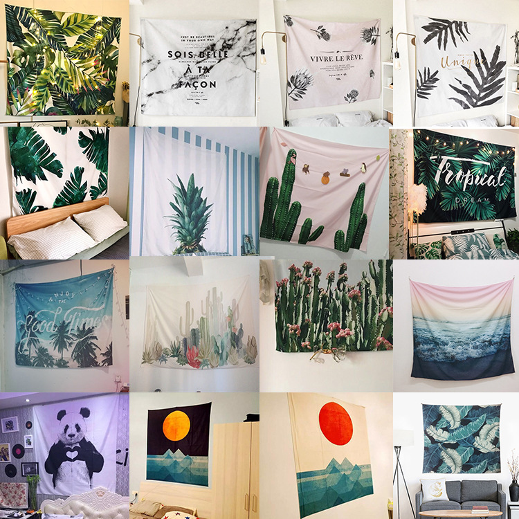 Fashion Hanging Nordic Tapestry Plant Wall Hanging Cloth Home Decor Wallcloth Photography Background Cloth Bedroom Tapestries