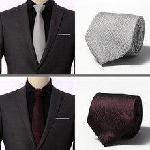 Polka Dot Ties for Men Gravata 8 cm Mens silk Tie Slim Business Wedding Necktie Blue men shirt Accessories