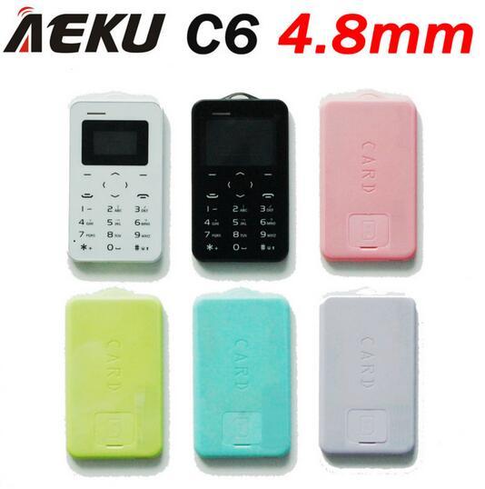 Wholesale price! 5 pcs/lot AEKU C6 Cartoon kid girl GPRS vibration bluetooth 2.0 mini size ultrathin credit card mobile phone