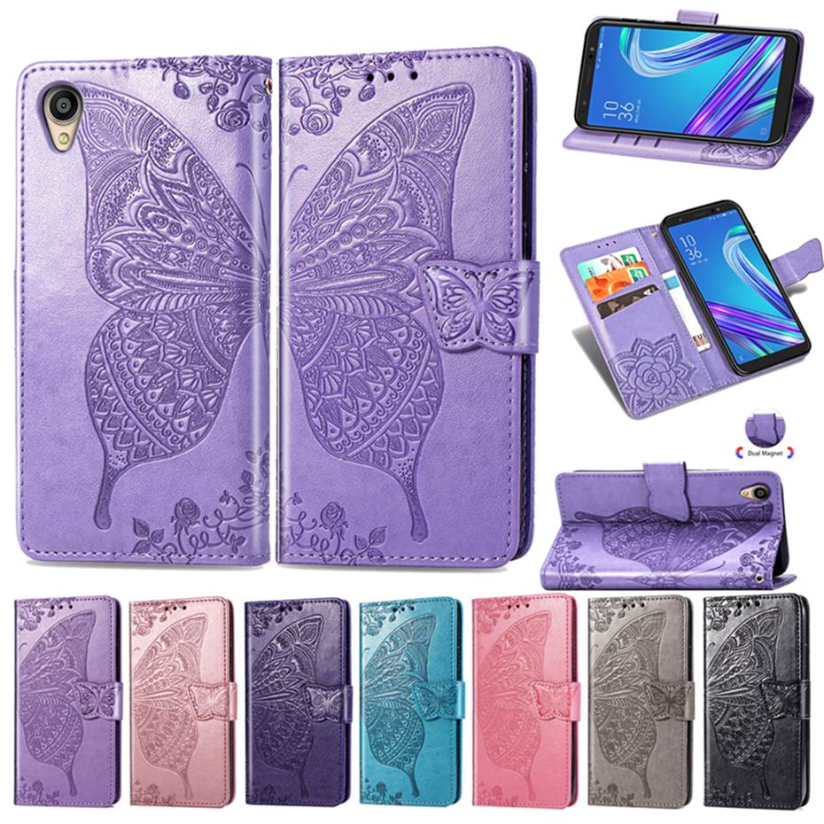 Flip Case For Asus ZenFone Live L1 ZA550KL 5.5 3D Butterfly PU Leather Cover Phone Case For ASUS ZA550KL ZA ZA550 KL X00RD Case