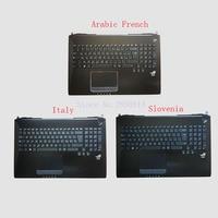 Árabe Francés/Italia/Eslovaquia Teclado Para Asus G750JX G750JW G750 G750JH G750JM retroiluminada Palmrest teclado Del Ordenador Portátil Superior