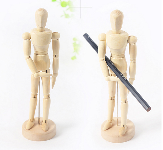 1pc 8inch Paint Sketch Model People Wooden Man Drawing Model School Supplies Art Supplies ASS039