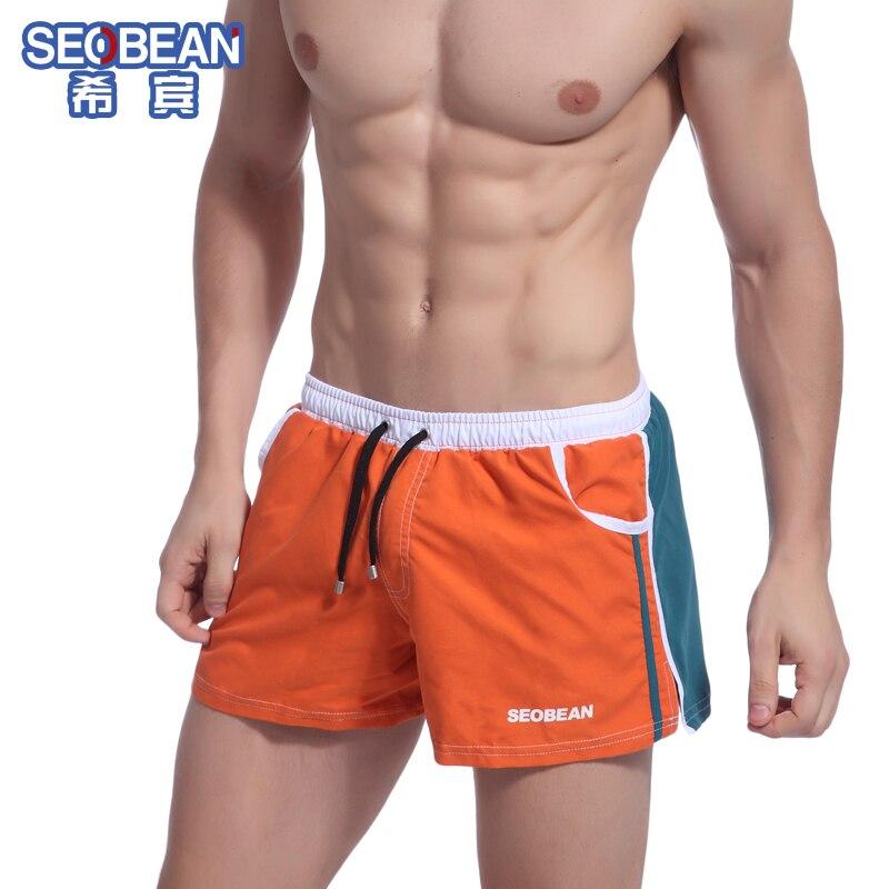 SEOBEAN herrenmode farbenblockdekoration lounge trunks sexy shorts