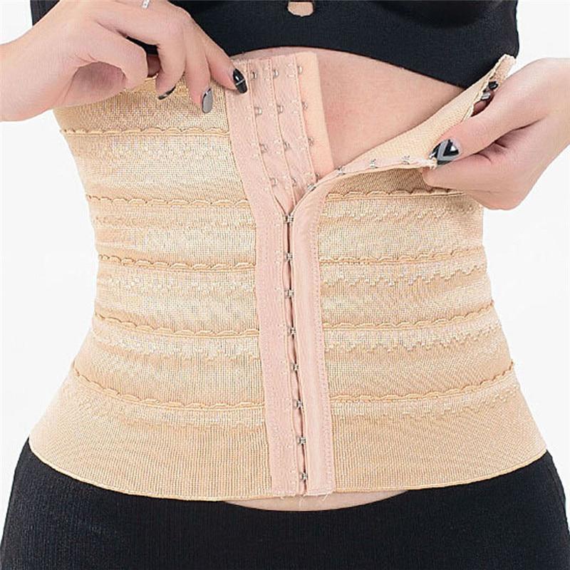 BONAS Hot Body Shaper Waist Slimming Women Postpartum Shapewear Waist Trainer Belt Corrective Underwear Slim Waist Chinchers
