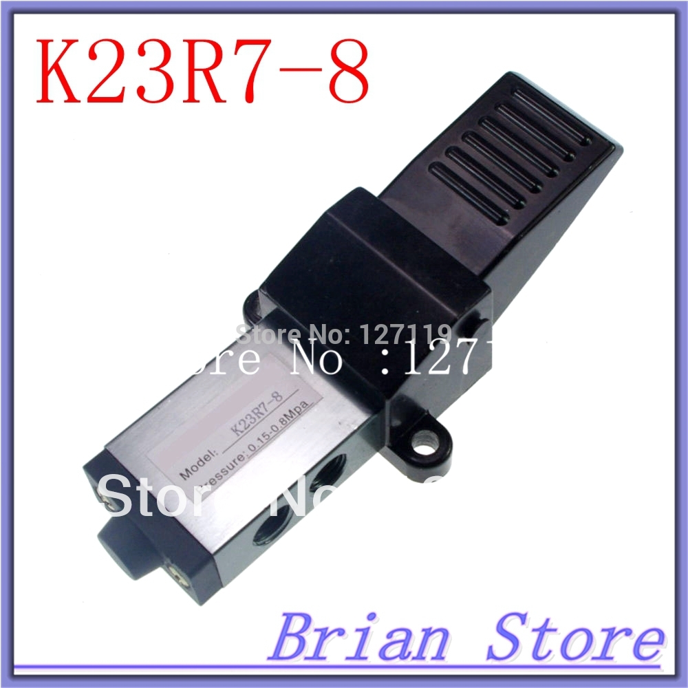 G 1/4 Air Pneumatic Foot Pedal Manual Valve 2 Position 3 Way K23R7-8 pneumatic foot valve pedal valve fv420 2 position 4 way