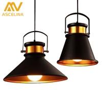 Loft Industrial Pendant Lights Vintage RH Edison Hanging Lamp E27 220V Pendant Lamps For Home Restaurant