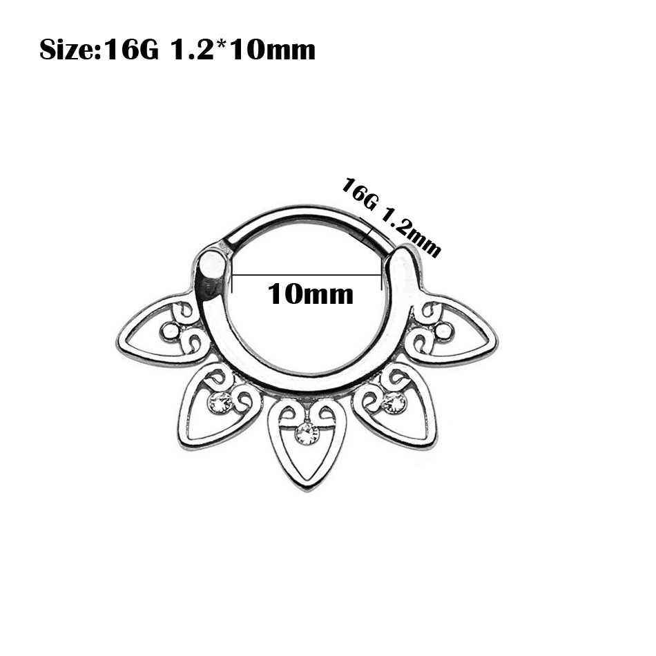 1 PC נחושת פירסינג G23 טיטניום בר Helix פירסינג Nariz מחץ Clicker Daith טבעות האף עגילי קונכיית צריח פירסינג
