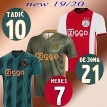 f21491b504e 19 20 Ajax Voetbalshirts champions league thuis weg groen 2019 2020 shirt  TADIC DE JONG DE LIGT ZIYEC Voetbal uniform shirts