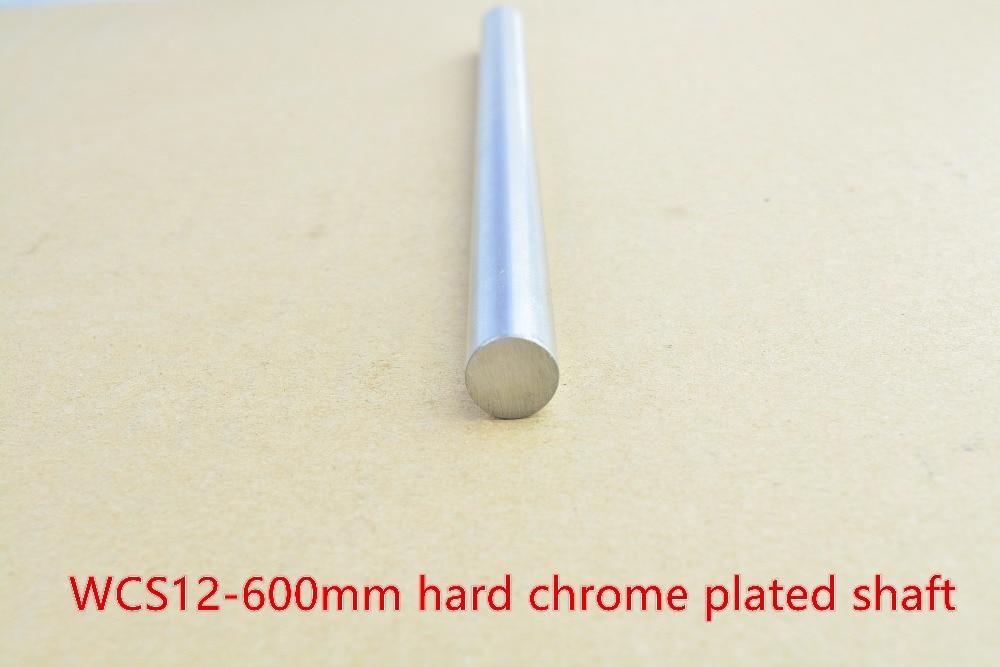 3D printer rod shaft 12mm linear shaft L 600mm chrome plated linear guide rail round rod shaft for cnc robot 1pcs