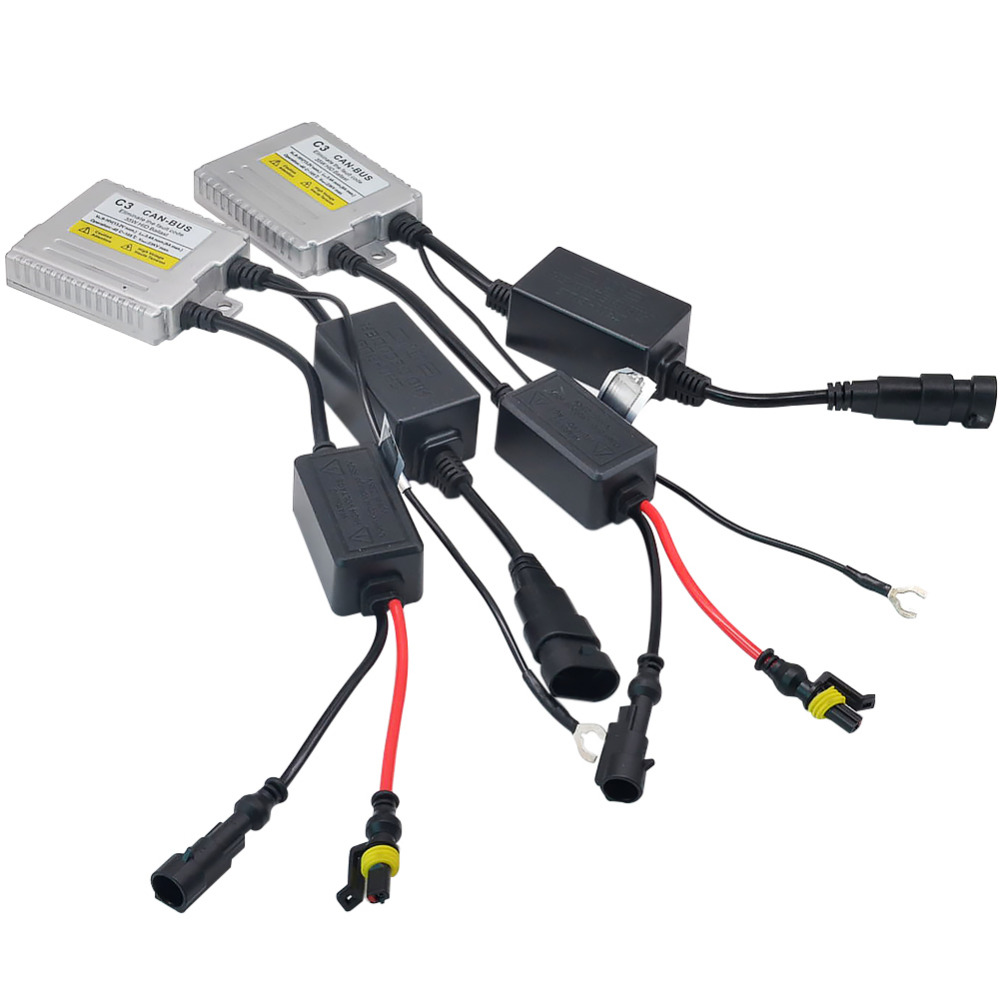 2Pcs 35W Canbus HID Ballast Blocks Ignition Electronic Ballast For HID Kit Xenon H7 H4 H3 H1 H11 9005 9006 Bulb C3 xenon ballast