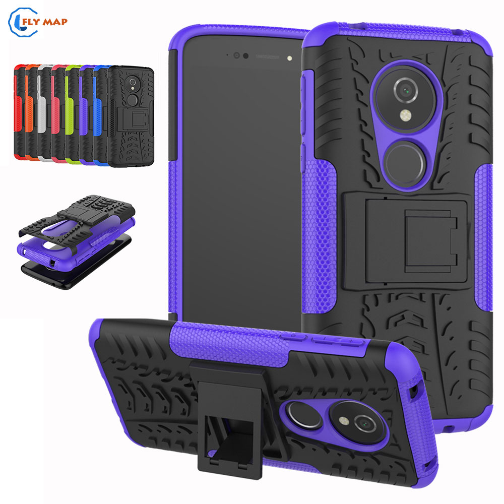 Coque For Motorola Moto E5 Plastic Silicone Box TPU Mobile Phone Bracket Case For Motorola Moto E 5 Armor 2 in 1 Protector Cover