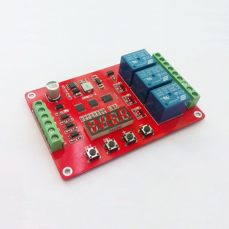 DRM03 Three way multi function relay module delay self locking cycle timing time relay in Relays from Home Improvement