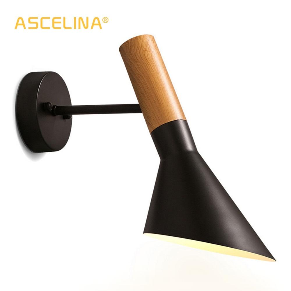 ASCELINA mur LED lampe nordique moderne Simple intérieur réglable créatif appliques pour chambre salon allée éclairage à la maison