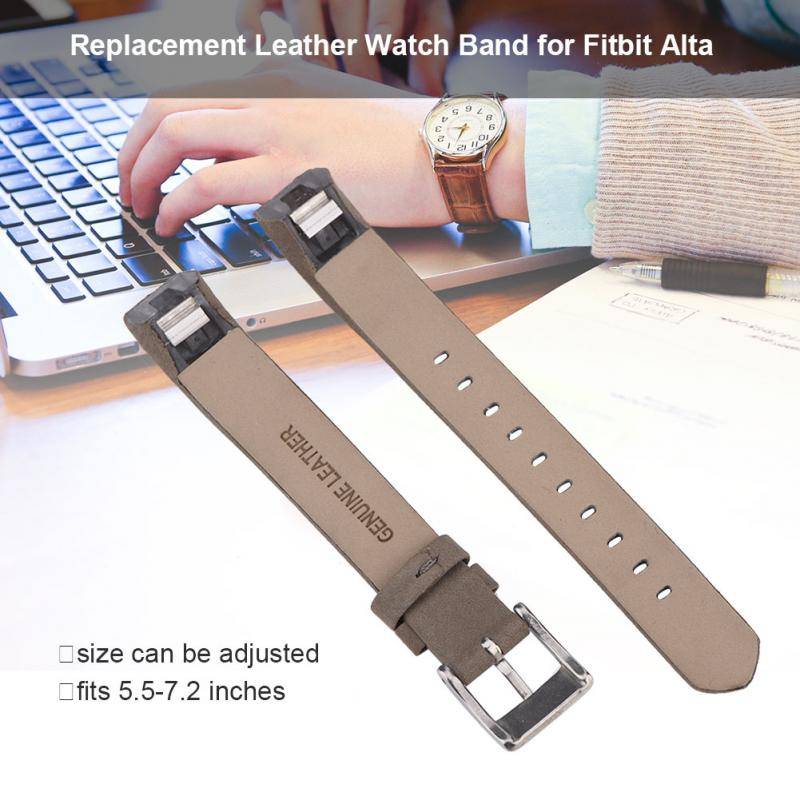 Genuine Leather Wrist Band Smart Activity Tracker Wrist Replacement Strap for Fitbit Alta