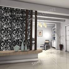 Подвесной разделитель комнаты из экологически чистого ПВХ, 12 шт перегородки панели экрана для украшения спальни, столовой, кабинета и СИТТИ