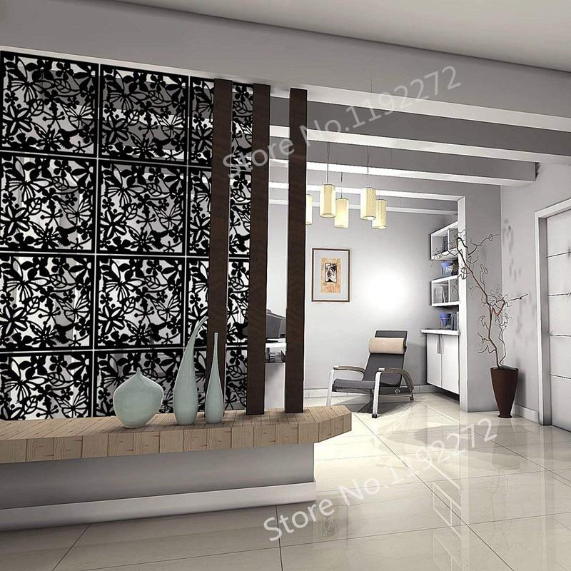 Hängen Bildschirm Kreative Tvsetting Wand Kunst Papier-cut Wohnzimmer Veranda Partition Pvc Vorhang Hause Dekoration Wohnkultur Haus & Garten