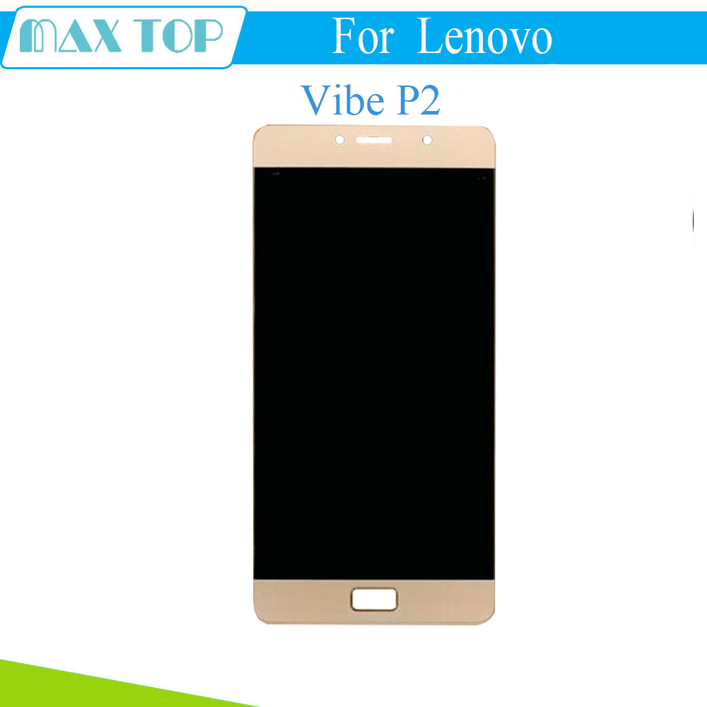 100% Tested For Lenovo Vibe P2 P2a42 P2c72 LCD Display Touch Digitizer Screen with frame For Lenovo Vibe P2 Display Replacement аксессуар чехол lenovo k10 vibe c2 k10a40 zibelino classico black zcl len k10a40 blk