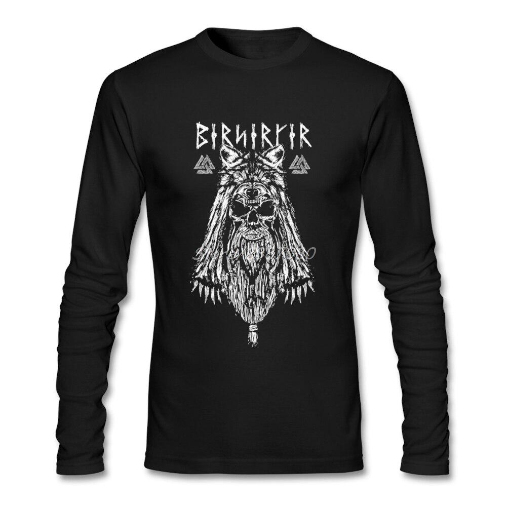 Vichingo Vichingo Berserk In Metallo T-Shirt Da Uomo Auto-styling O-Collo Manica Lunga Su Misura Plus Size T Shirt