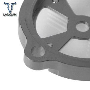 Image 2 - Di Alluminio di CNC Del Motociclo Anteriore Albero Motore Telaio di Copertura Foro di Copertura per Yamaha TMAX530 TMAX 530 2012 2013 2014 2015 2016