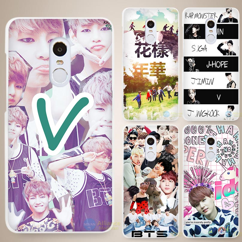 Bantan Bts Forever young Hard White Cell Phone Case Cover for Xiaomi Mi Redmi Note 3 3S 4 4A 4C 4S 5 5S Pro