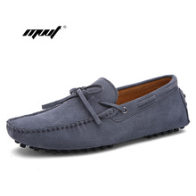 New Fashion Summer Spring Men flats shoes Driving Shoes men Loafers genuine suede Leather Boat Breathable Male Casual shoe