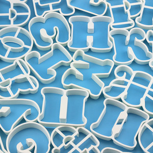 Image 4 - 30pcs/set Russian Alphabets Cookie Biscuit Cutters Russia Letters Cookie Pastry Cutter Molds Dessert Moulds Pastic LIXYMO
