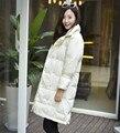 2016 Nueva Moda de Invierno Largo Abrigo de Las Mujeres Espesar Loose Down Jacket Mujer de Down Abrigos Parkas Nieve Outerwears YR18