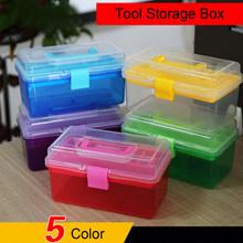 1pcs Multi-function Organizer Hand Tool Storage Case Electronic Container Toolbox Hardware Painting Fishing Household Suitcase(China)