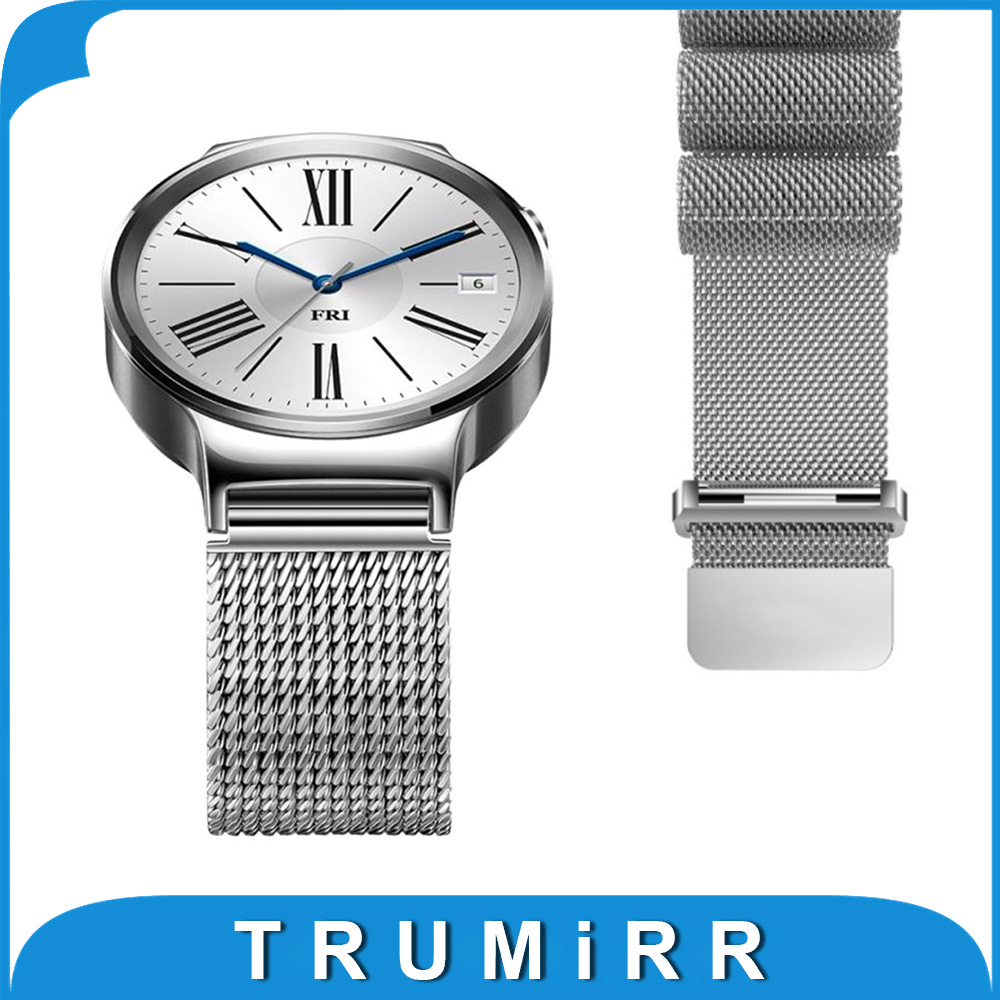 18mm Milanese Loop Strap for Asus ZenWatch 2 Women WI502Q Huawei Watch / Fit Honor S1 Stainless Steel Band Magnet Clasp Bracelet