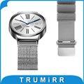 18mm loop band para asus zenwatch 2 wi502q milanese 45mm huawei reloj/fit honor s1 banda de acero inoxidable pulsera del corchete del imán