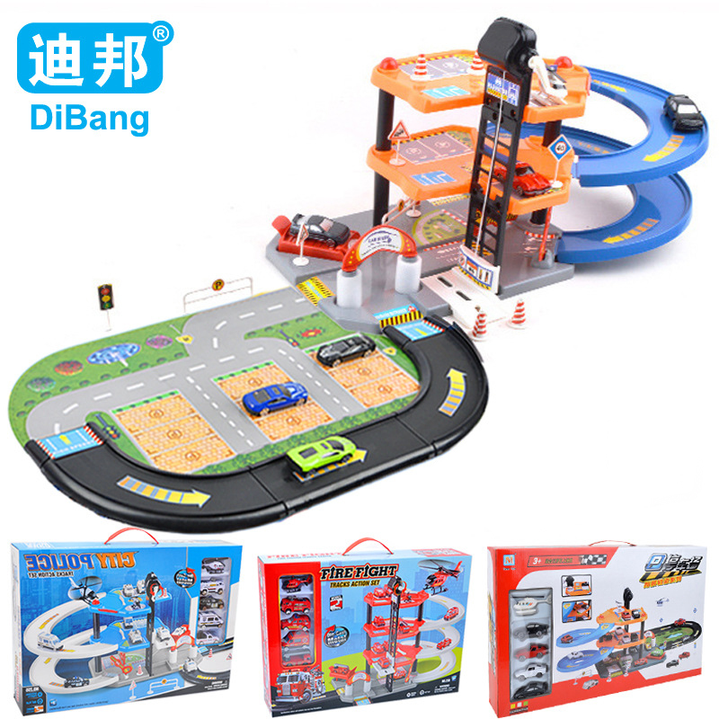 Upgraded Version Of The Alloy Car Assembled Rail Car Puzzle Simulation Parking Model Children s Toy Car Kids Christmas Gift