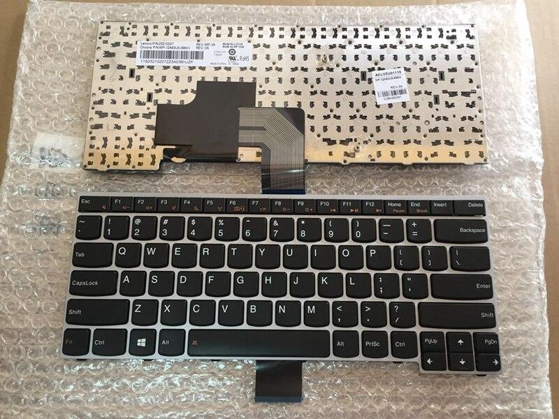 Nouveau clavier Anglais Pour LENOVO V490 V490U V490UA GRIS CADRE NOIR clavier d'ordinateur portable us