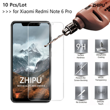 10 Pcs/Lot 2.5D 0.26mm 9H Tempered Glass For Xiaomi Redmi Note 6 Pro Screen Protector protective film 6.26