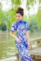 10pcs/lot Free ship fashion short sleeve long dress Qipao Dress vintage chinese style  restoring cheongsam dress Chinese dress