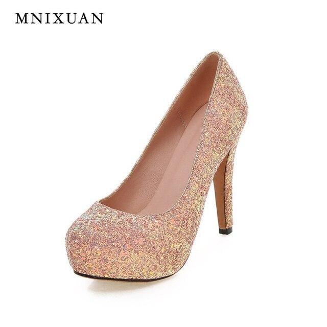 Chaussures de mariage printemps roses femme R746uXi