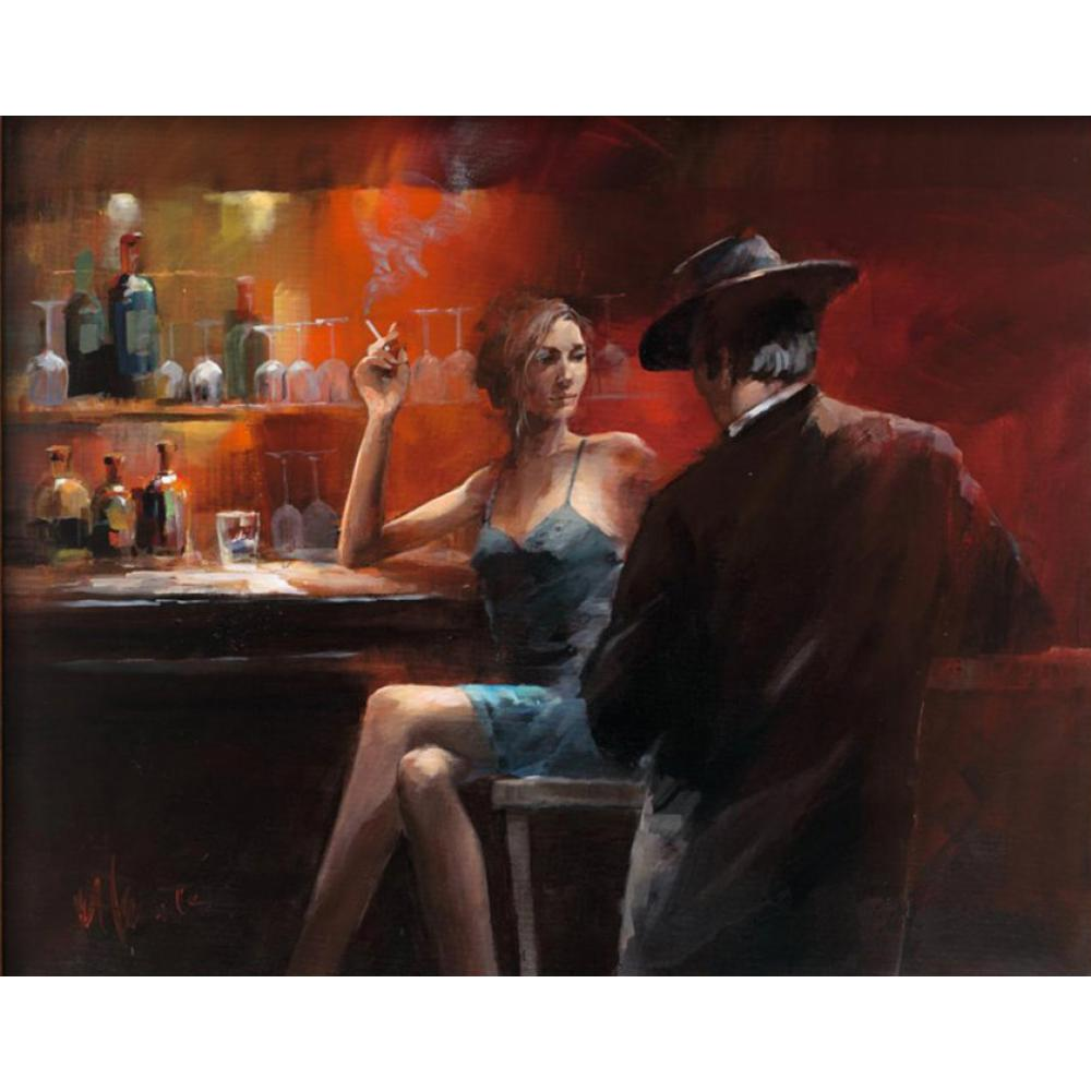 contemporary art oil paintings Evening in the Bar Willem Haenraets painting on canvas hand painted High qualitycontemporary art oil paintings Evening in the Bar Willem Haenraets painting on canvas hand painted High quality