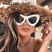4f7760aa87 Personality Butterfly Women Sunglasses Brand Designer Cat Eye Sun Glasses  Fashion New Vintage Shades UV400 MA418