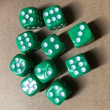 10Pcs/Set New Colorful 6 Sided Dice Round Corner Pearl Gem Dices 16mm Playing Table Game Entertainment Supplies