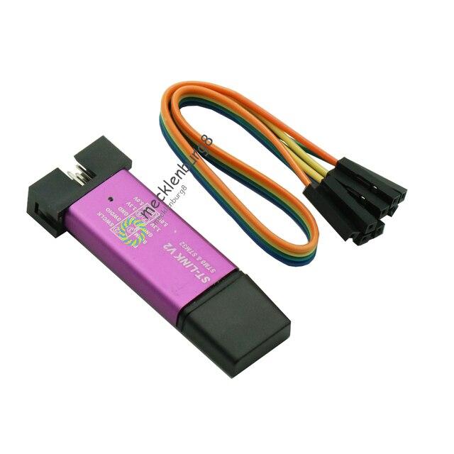 1 סט ST LINK Stlink ST קישור V2 מיני STM8 STM32 הורדת סימולטור מתכנת תכנות עם כיסוי דופונט כבל