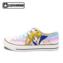 4b590f53fdc0 Sailor Moon Converse All Star Women Men Sneakers Man Woman Anime Custom  Design Hand Painted Canvas Shoes Girls Boys Cosplay Gift