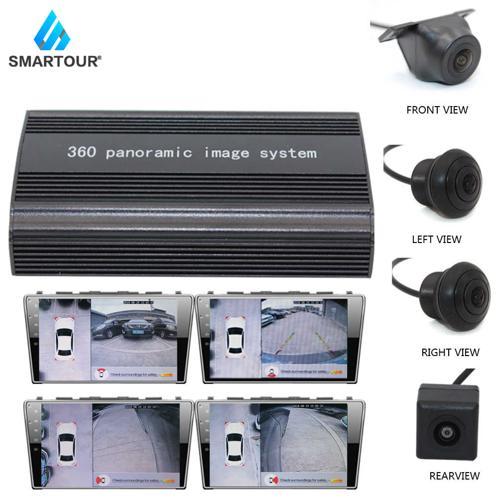 Car 1080P 2D 3D 360 Bird View Panorama DVR system with front left rear right 4 Camera car surround view CCTV Box video recorder