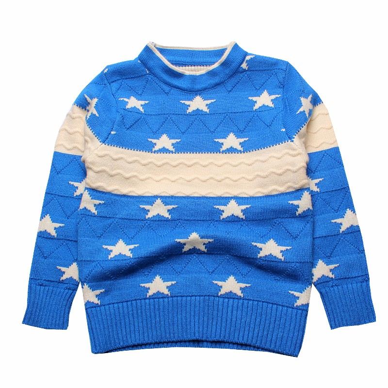 Star Kids Sweaters Cotton Infant Clothes Pullover Print Outfit O Neck Knit Top Autumn Winter Baby Boys Sweater Children Clothing (5)