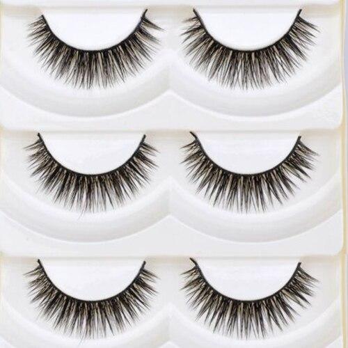 Channy 6 Pairs Natural False Eyelashes Fake Lashes Long Makeup 3d Man-made Fiber Lashes Extension Eyelash Eyelashes For Beauty At All Costs Beauty & Health