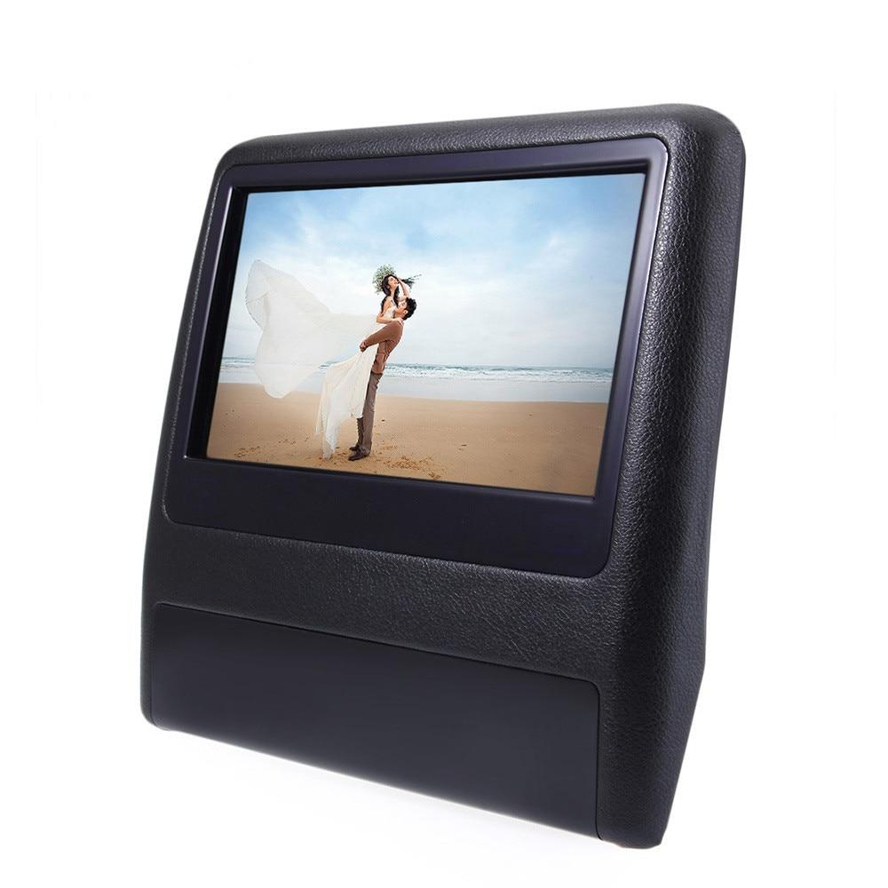 XD99089 дюймовый Универсальный автомобиль монитора в Подголовнике сиденья DVD-плеер пульт дистанционного управления HDMI 800 х 480 ЖК-экран сзади дисплеем 12В