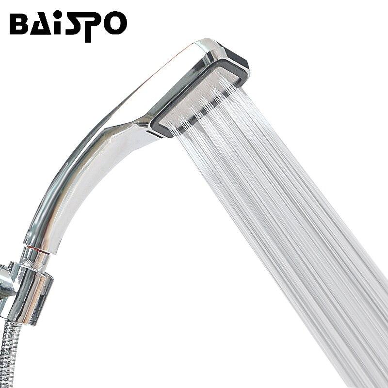Torneira do banheiro 30% economia de água 300% pressão impulso poderoso chuveiro 300 furos qualidade abs galvanizar cabeça chuveiro alta potência