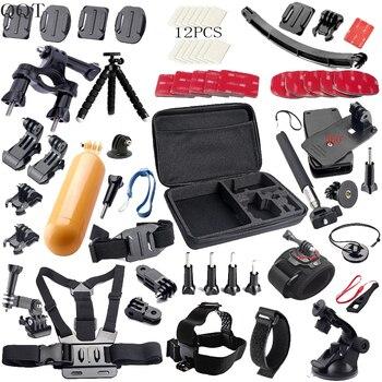 QQT for Gopro accessories Set support Strap Helm Harness Brustgurt mini stick Einbeinstativ Stativ Gopro Hero7  6 5 4 3 xiaomiyi