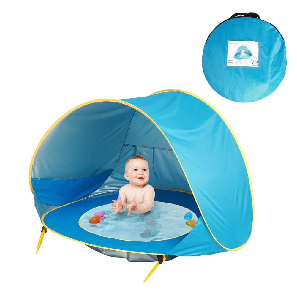 Baby Beach Tent Uv-protecting Sunshelter With A Pool Baby Kids Beach Tent Pop Up Portable Shade Pool UV Protection Sun Shelter 3