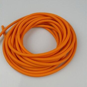 Натуральный латекс Резиновый Шланг 5 м * 5 мм артиллерийские оранжевый рогатки арбалет Охота упругий эластичный часть фитнес оборудования