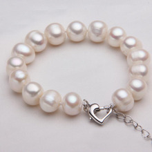 New Arrival Round Pearl Bracelet S925 Sterling Silver Button Girls Engagement Freshwater Fine Jewelry Bracelets